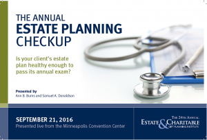 The Annual Estate Planning Checkup Webcast @ JMU IceHouse Room 117 | Harrisonburg | Virginia | United States